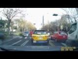 Car Hits Bicyclist In Taiwan