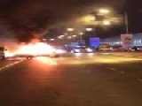 Car Set On Fire Explodes