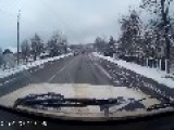 Car Loses Control Over Icy Bridge, Goes Airborne And Crashes