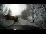Calamity On Icy Kazakhstan Road