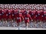 Chinese Female Soldiers Military Parade