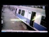 CCTV Footage Mumbai Local Accident Train Overshoots Platform At Churchgate!