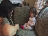 Cute Baby Dances When Her Dad Plays Guitar