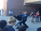 Cop Punches Girl In The Face!