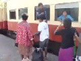 Catching The Train In Thailand