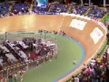 Couple Of Bicycle Crashes In A Velodrome - 2014 Track World Championships, Cali, Colombia