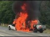 Cop Drags Woman From A Burning Car Seconds Before It Explodes