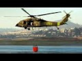 California Wildfire: CH-47 Chinook MH-60 Release Tons Of Water From Perspective Views
