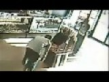 CCTV Footage: Texas Store Clerk In The Chest During Robbery