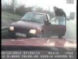 Crazy Man Drives Wrong Way In Belgrade