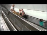 CRAZY, Escalator Trick Fail!