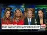 CNN Panel Shouting Match On 'Sanctuary Cities': Trump Created Division - That's Why He Won Election