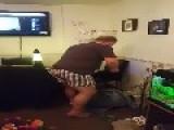 Cat Attacks Man