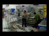 CCTV-Armed Thief Shot By CCW Shopper