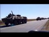 Convoy Of Russian Military Vehicles Near Armyansk, North Crimea