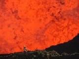 Crazy Bastard Goes Into An Active Volcano