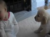 Cute Baby With Puppy