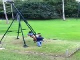 Crazy Kids On Standing Swing