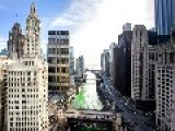 Chicago River Turns Green For Irish Holiday