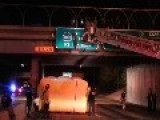 CHP Tasers Suicidal Man On Freeway Overpass