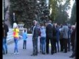 City Zhdanovka, DPR, Released From Ukrainian Punishers, Locals Removed Flag Of Former State 20 09 2014