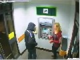 CCTV ATM Knifepoint Robbery , South Molton Devon UK