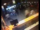 CCTV-footage Of Istanbul Airport People Escape