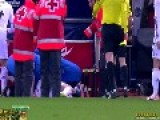 Cristiano Ronaldo Hit By A Lighter Thrown By Atletico Madrid Fan