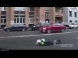 Cop Falls Off Motorcycle
