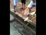 Catching Fishes In Manhole Cover - Vietnam