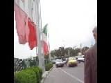Crossing A Busy Road In Tehran