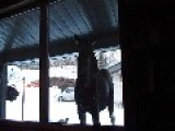 Curious Moose Peeks Into House Near Bragg Creek, Alberta