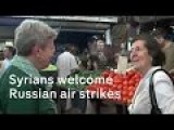 Channel 4 In Syria Tartous : Russian Air Strikes Welcomed In Assad's Heartland