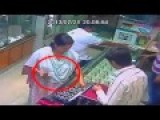 CCTV-Asian Thief Woman Replaces Gold Ring