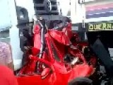Car Brutally Crushed Between 2 Trucks *AFTERMATH*