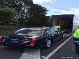 Chinese President's Luxury Limo Arrives In New Zealand For His State Visit