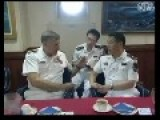 Chinese Naval Officers On Board US Missile Cruiser