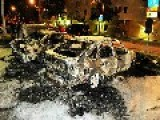 Car Burning And Stone Throwing At Police Husby Stockholm Sweden 04 09 2013