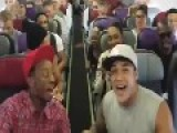 Cast Of Lion King On Stage Sing On Plane!