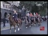 Chinese President's Convoy Escorted By Cavalry Parade On Street In Argentina