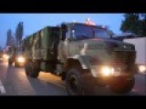 Column New Armored Vehicles Headed For The Area ATO