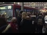 Crowds Queue For Buses At Clapham Junction As Tube Strike Kicks Off