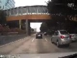 Car Loses Control And Runs Wild On Road