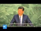 Chinese President At UN Declares China Writes Off Poor Countires' Debt And Donates $12 Billion To Set Up Fund To Help