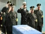 Chinese Military Personnel Receive Remains Of Chinese KIA's From South Korea