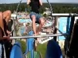 Crazy Waterslide Stunt!