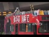 Chinese Double-Decker Loses Roof