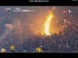 Crazy Partizan Belgrade Fans Defend Fire Vs Firefighters