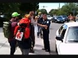 Cop Hits Cyclist With Car And Shoves Peaceful Protestor At March Against Monsanto In Richmond