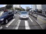 Cement Truck Hits Traffic Lights Crushing Cars And Scattering People